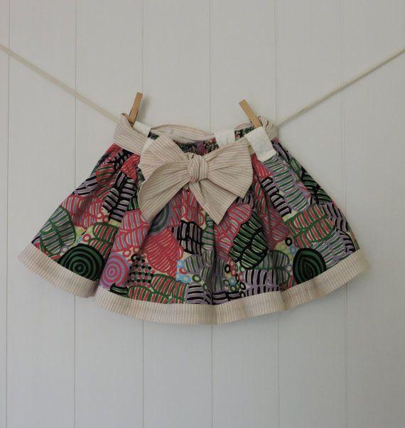 Toddlers Skirt Size 2 Handmade Aboriginal Indigenous by dezignhub