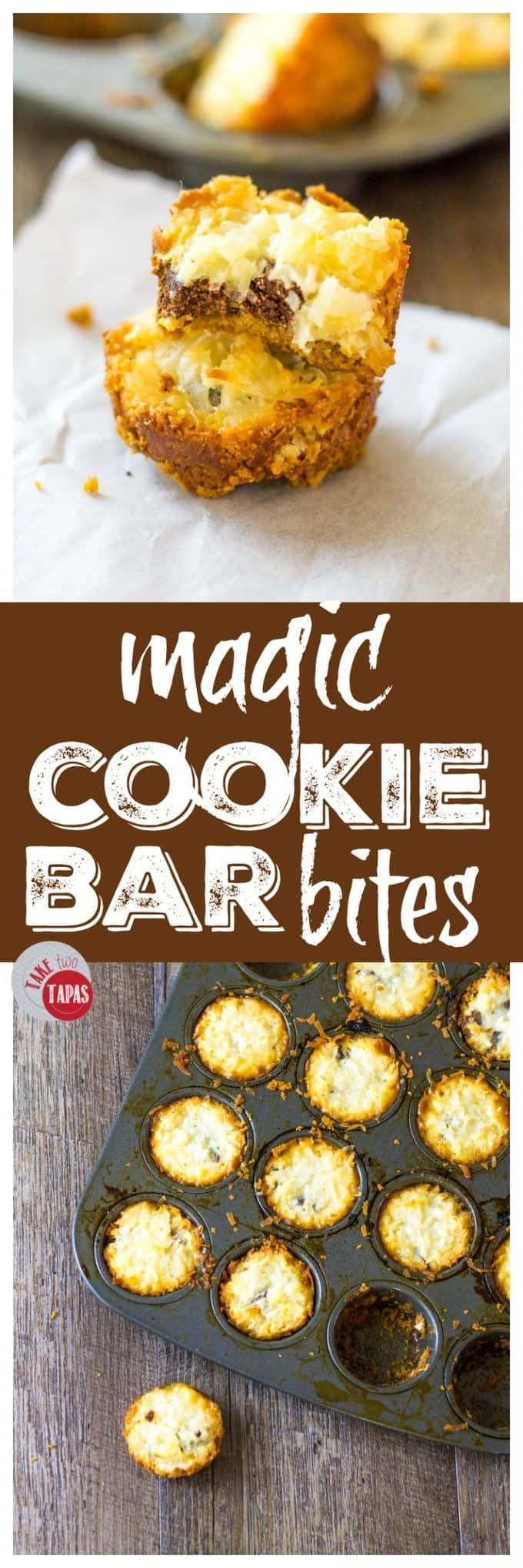 Magic Cookie Bar Bites for you to share! | Take Two Tapas