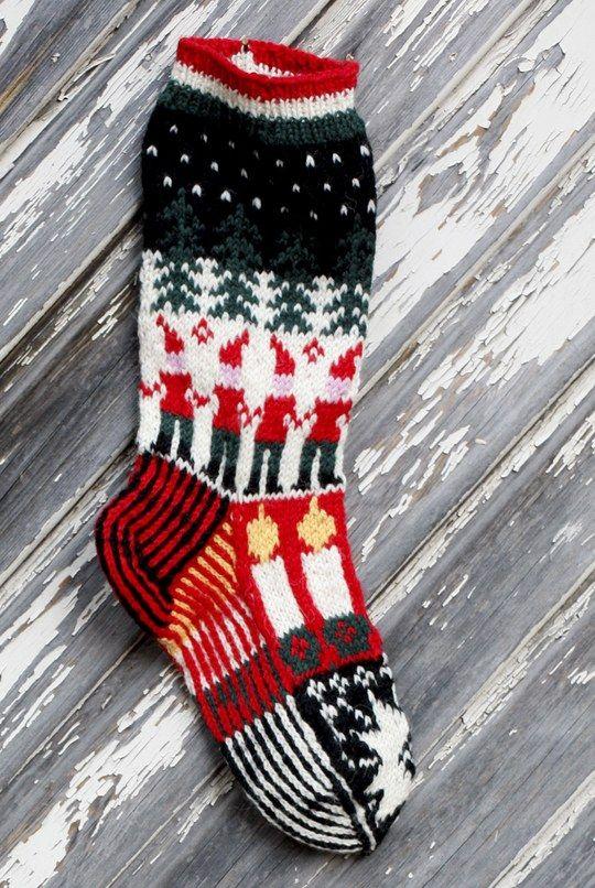 Stickad Julstrumpor Novita 7 Bröder | Novita knits