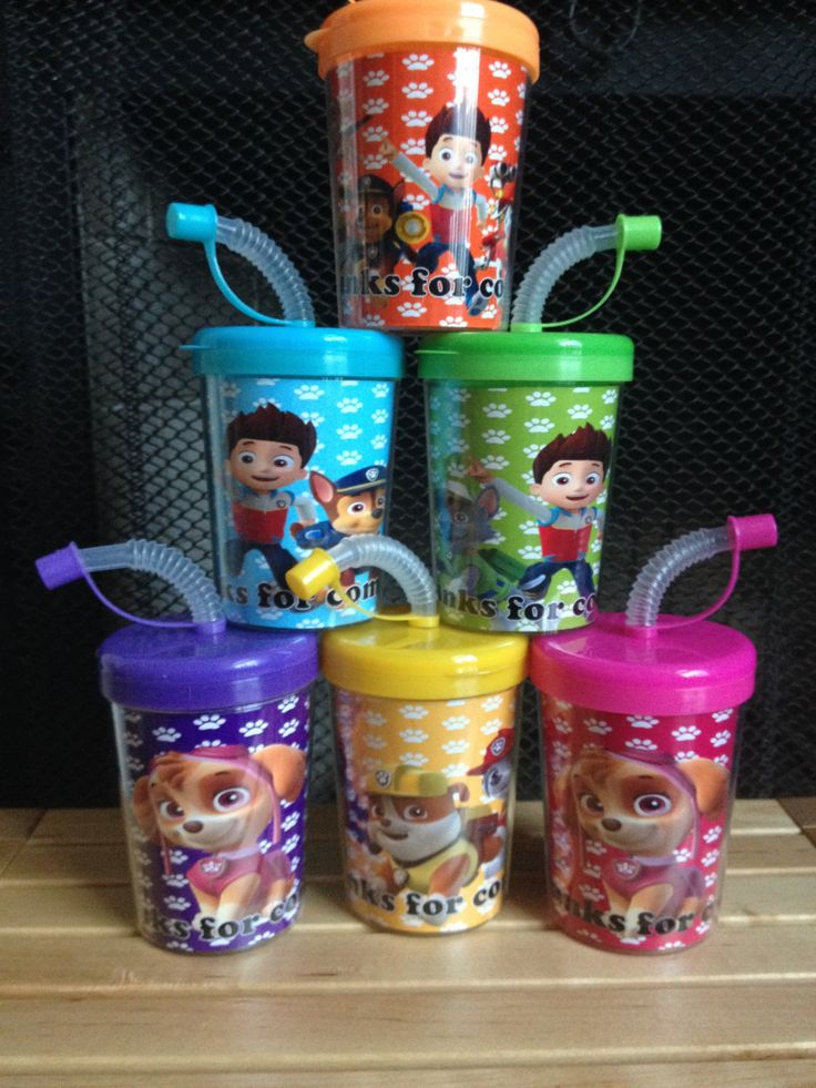 PAW Patrol Party | Paw Patrol Personalized Birthday Party Favor Cups Set