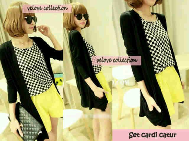 Fashion : OH257 Set cardi + inner catur