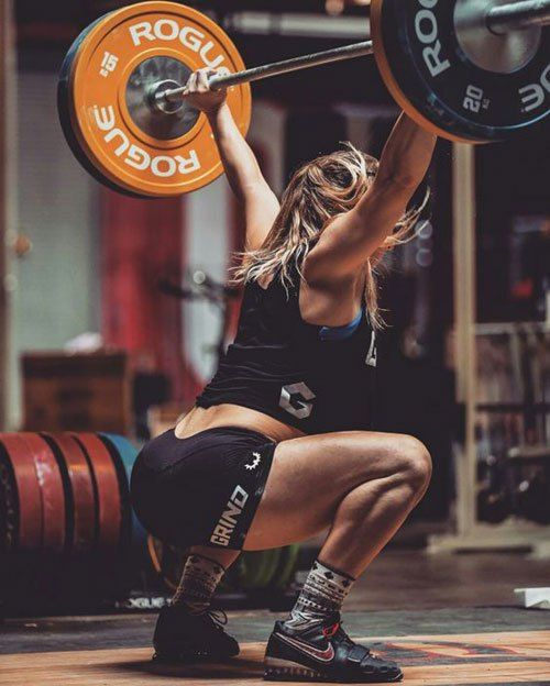 NOTICE STEADY GAINS IN YOUR CROSSFIT. Mattie Rogers snatching 90kg #OlympicWL #snatch #Rogers