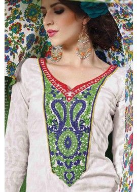 White Cotton Salwar Kameez