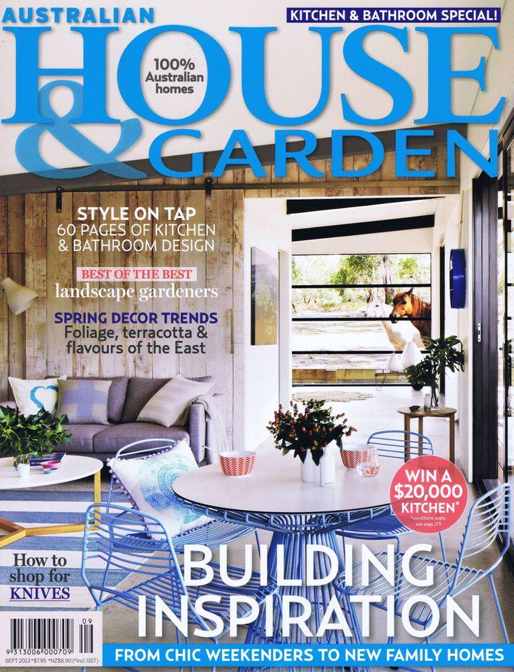 House & Garden Sept 2013 Cover Page Brooke Aitken Design