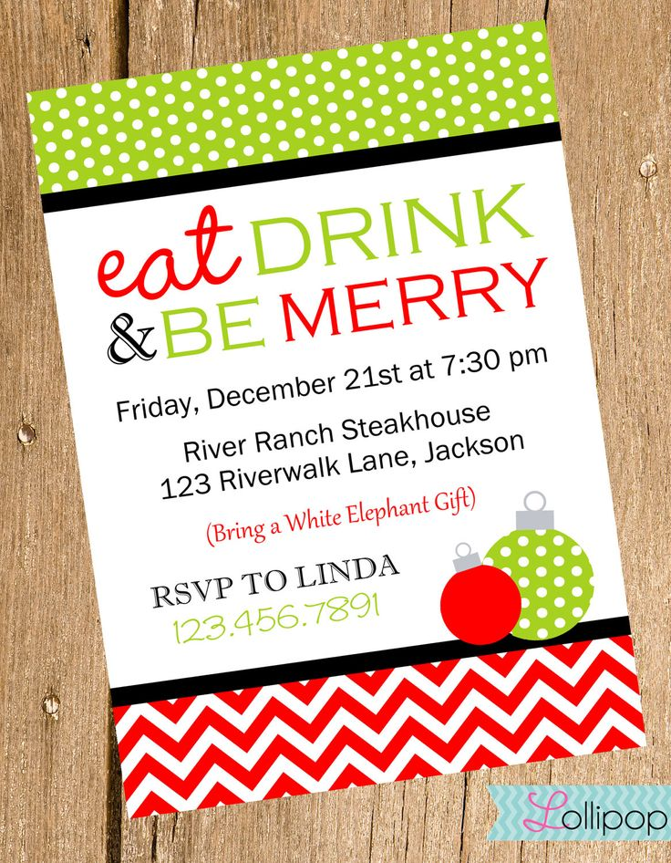 107 best images about Invitations I Like – Diy Christmas Party Invitations