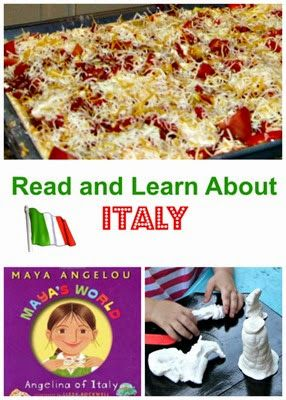 Hands on geography - an Italy mini country study with a book, an art project, and homemade pizza. Additional resources for an Italy country study with preschoolers or elementary school students.