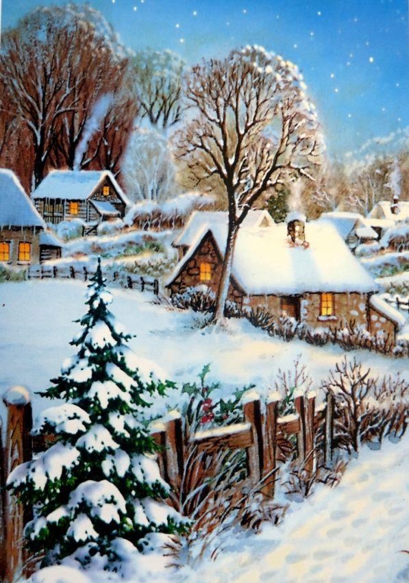 foto de 377 meilleures images du tableau paysages d'hiver en 2020 ...