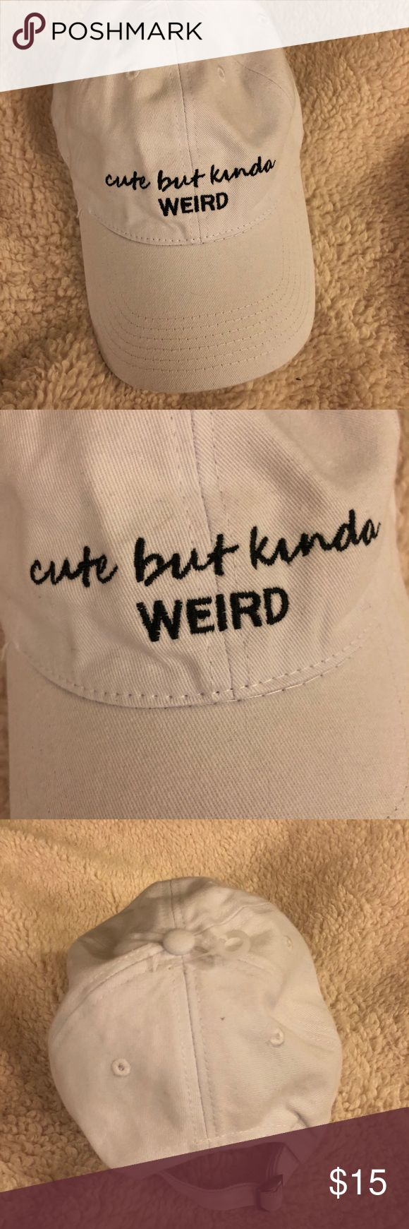 ❣️BRAND NEW CUTE BUT KINDA WEIRD WHITE DAD HAT ♡Cute but kinda weird white dad hat ♡Perfect condition NEW WITH TAGS ♡Super stylish, adjustable back.  ♡Sizing = One size = fits perfectly ❗️Always open to offers, Ask Questions❗️ ‼️Bundle to save‼️ SO Accessories Hats