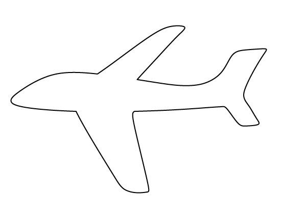 Airplane pattern use the printable outline for crafts for Cut out airplane template
