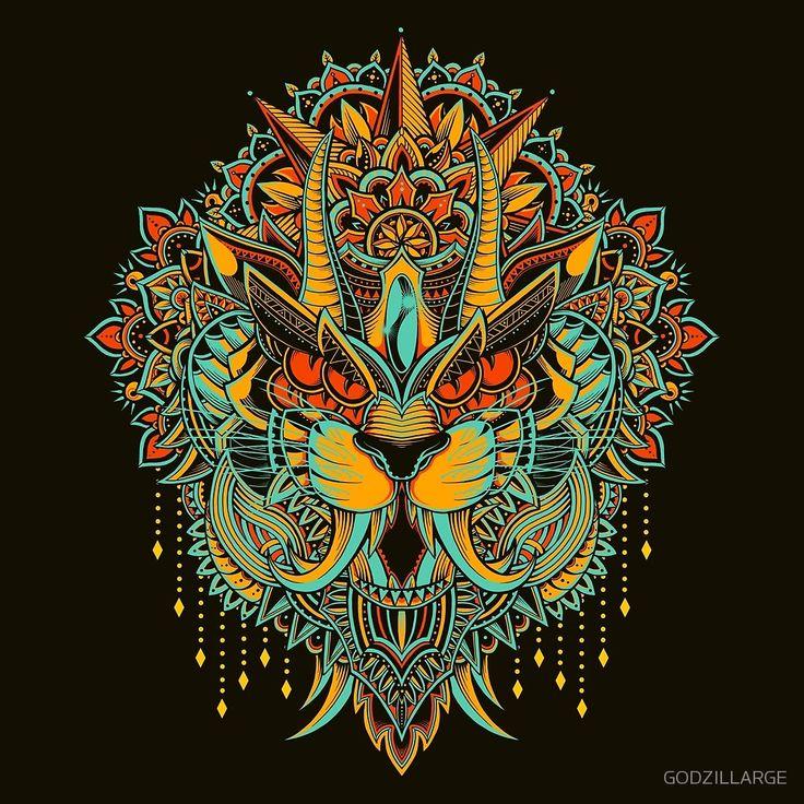 Tiger Mandala (Colored Version)