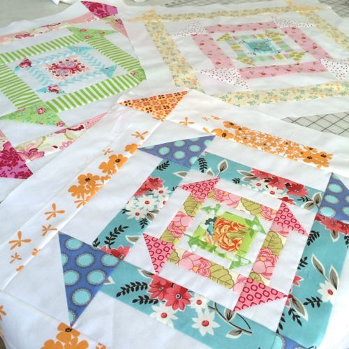 I was a little late to the party but apparently I was fashionably late because it's still going on. I jumped into the Nested Churn Dash quilt along and it's been lots of fun. My friend Quiltjane of Wa