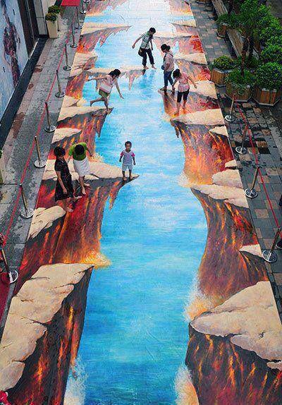 3d art in china street art pinterest for 3d mural art