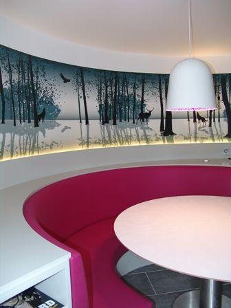 Fresque de forêt hivernale pour créer une ouverture dans une pièce aveugle