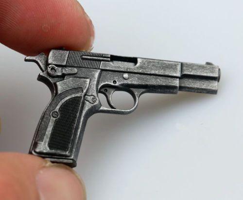 Escala 1:6 Escurecimento M1935 MK3 Arma Pistola Modelo de Arma de 12 polegadas Figura de Ação Acessórios