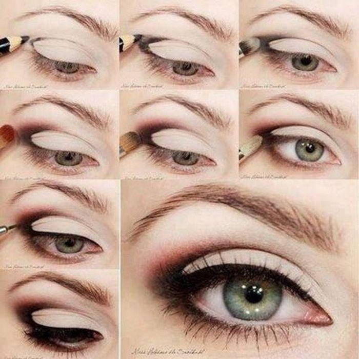Easy eye makeup for green eyes tutorial