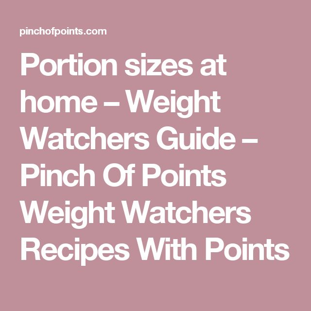 weight watchers point guide pdf