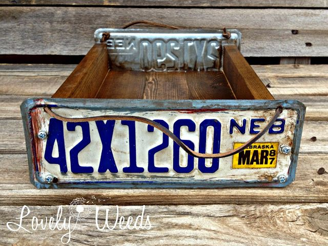 LW's License Plate Tray featured at Beyond The Picket Fence: Under $100 Link Party. Thanks Becky!