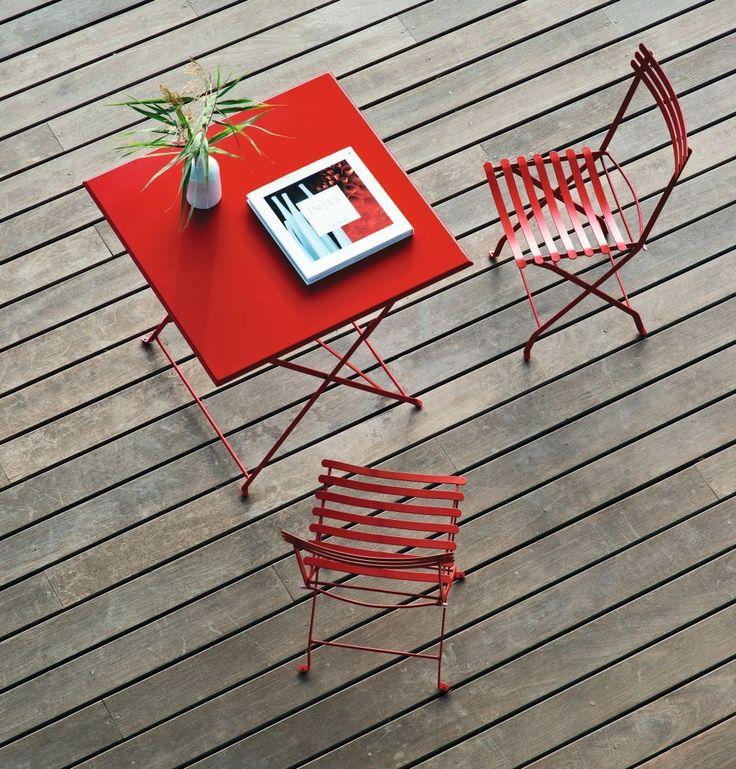 Unique Flower vouwstoel rood Ethimo