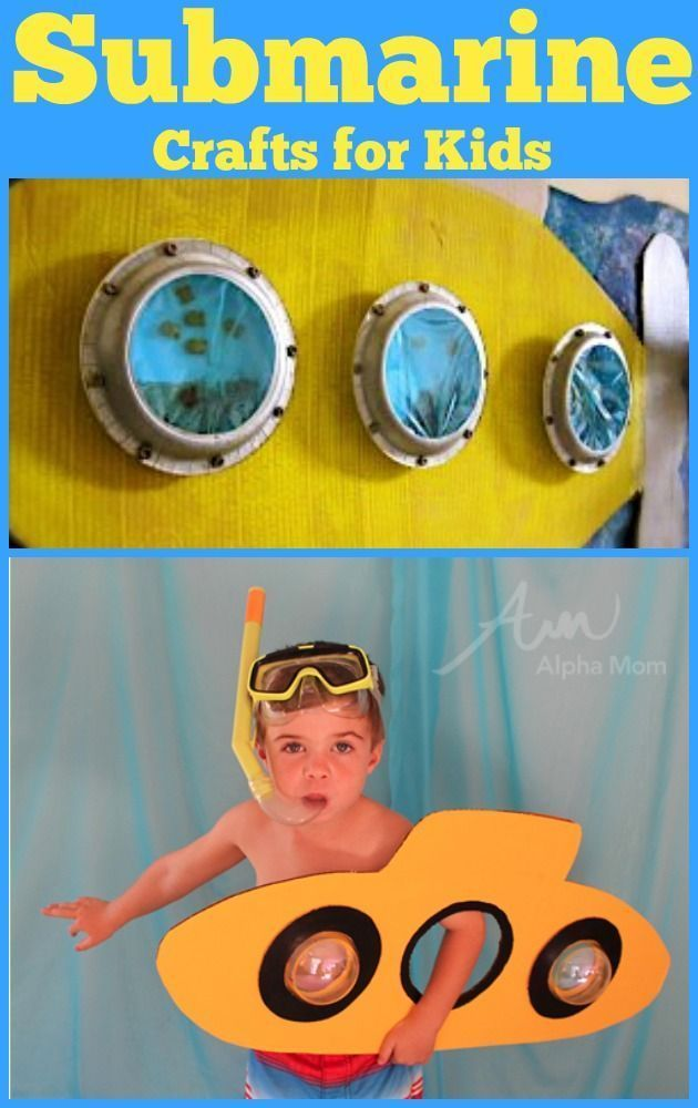 Fantastic roundup of Submarine Crafts & Books for Kids - SUCH a great idea! I always see ocean and under the sea beach themed ideas but submarine ideas are harder to come by! Perfect for summer and kid's birthday parties too!