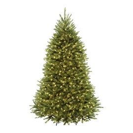 9' Pre-Lit Northern Dunhill Fir Full Artificial Christmas Tree - Warm Clear LED Lights