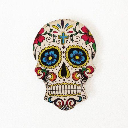 #AD449 - Aplique decorado de caveira mexicana nº2