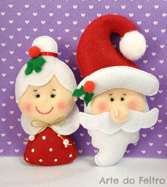 Santa & Mrs. Clause felt