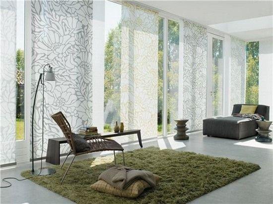 японские шторы в интерьере минимализм