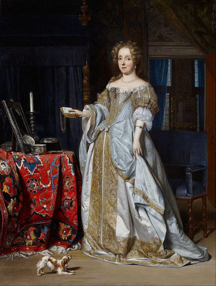 Portrait of Lucia Wijbrands, the wife of Jan Jacobszoon Hinlopen, by Gabriel Metsu