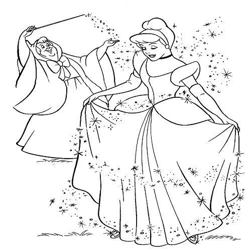 Cinderella Ausmalbilder Disney Prinzessin Malvorlagen Disney Farben Ausmalbilder