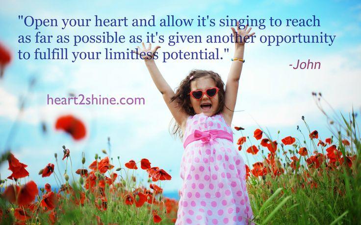 Hope. Open your Heart. Spiritual Guidance from John. heart2shine.com