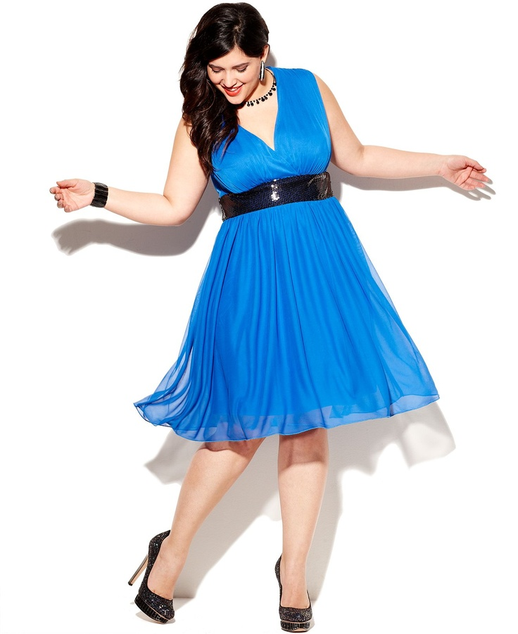 Trixxi Plus Size Dress, Sleeveless Sequin A-Line - Junior Plus Size - Plus Sizes - Macy's
