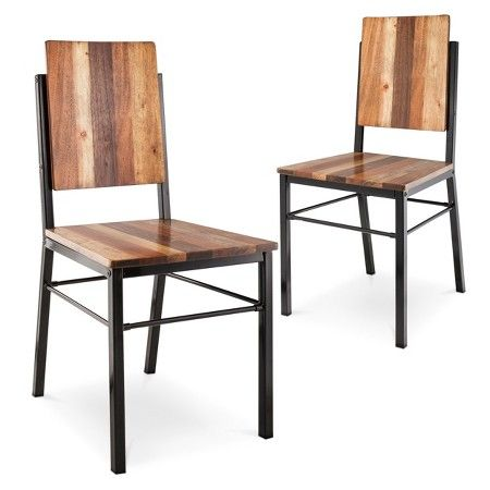 Asmara Dining Chair - Mixed Material (Set of 2) - Mudhut™ : Target