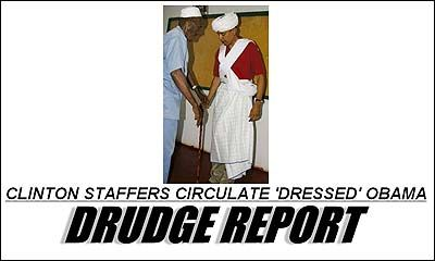 Barack Obama tribal photo 'sent to Drudge Report by Hillary Clinton staff' - Telegraph