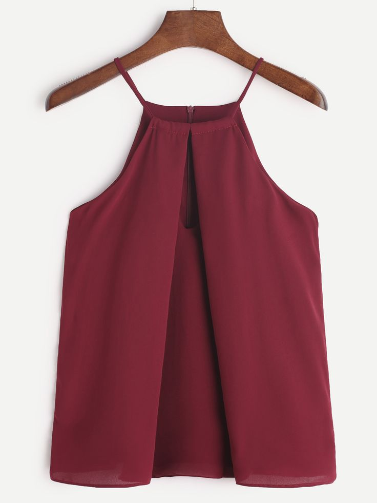 Shop Burgundy Keyhole Front Chiffon Cami Top online. SheIn offers Burgundy Keyhole Front Chiffon Cami Top & more to fit your fashionable needs.