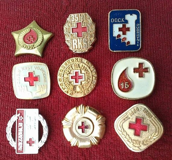 c8132ffdd05a Red Cross Vintage Pins Badges Sale Collection Original Yugoslavia Serbia  Croatia Souvenir SFRJ Sale