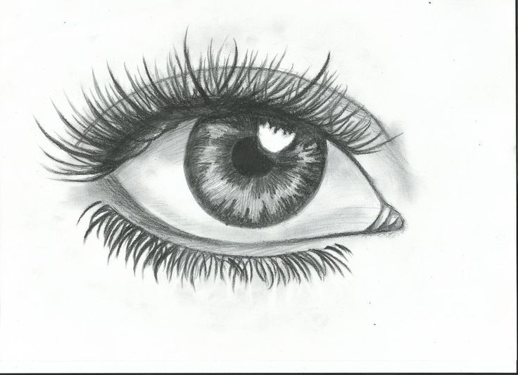 simple eye drawing step by step - Google Search