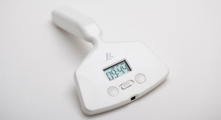 Love Mornings, with Little Rooster Alarm Clock Vibrator.  The narrow neck keeps it comfortably in place.  With 30 power levels, two motors, a snooze and a power snooze function....