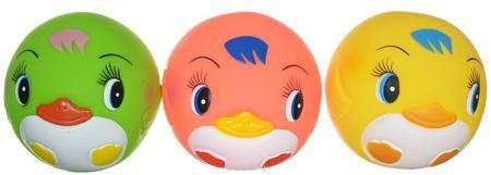 """Курносики Игрушка для ванной Мячики-пингвины цвет желтый розовый салатовый 3 шт  — 368р.  Игрушка для ванной """"Мячики-пингвины"""" изготовлена из прочного безопасного материала. Игрушки для ванной радуют малышей и превращают купание в удовольствие! """"Мячики-пингвины"""" способствуют развитию мелкой моторики, воображения и концентрации внимания, а также помогут научить ребенка различать цвета, распознавать форму и размер предметов."""