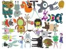 Fantasy Forest Critters wall stickers