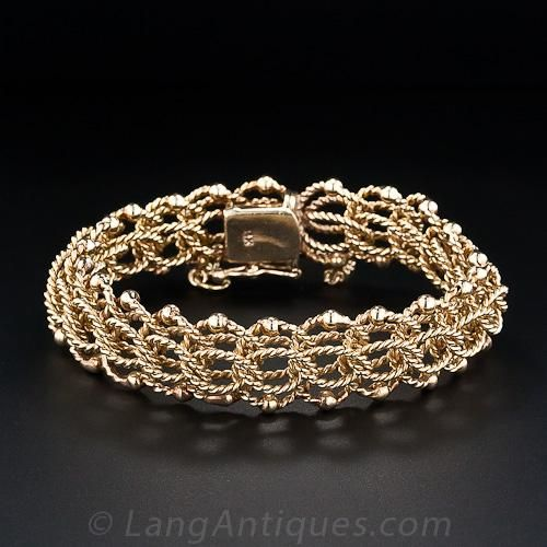 Twisted Wire Rope Motif Bracelet - 40-1-856 - Lang Antiques