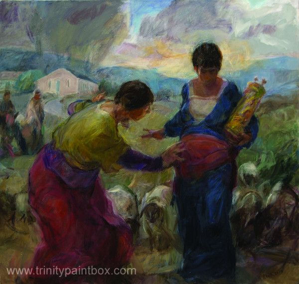"""""""I believe that in all the arts, meaning that is found is not just the discovery of meaning that has been put in by the artist..."""" http://www.trinitypaintbox.com/blogs/reflections/14333709-the-visitation"""