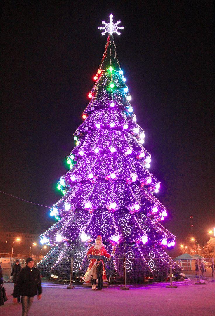 merry christmas from kharkiv urkraine - Purple Christmas Tree Lights