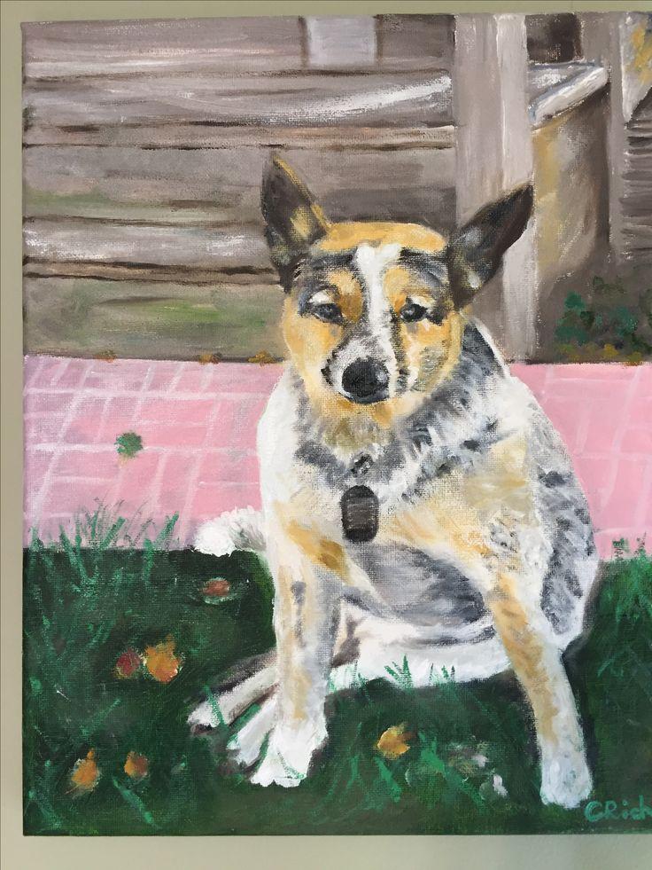 Diego-oil on canvas by Carol Rich