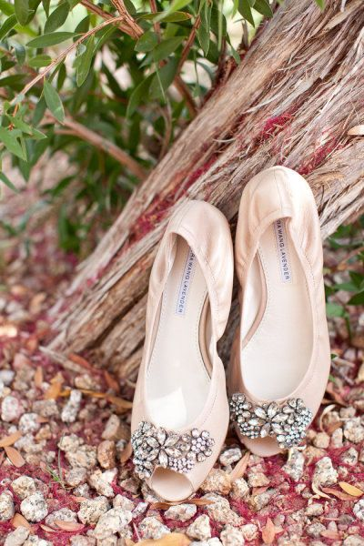 Shoes for bride and bridesmaids--which ever shoes you get, I would have a pair of these on hand--or something like them I mean....