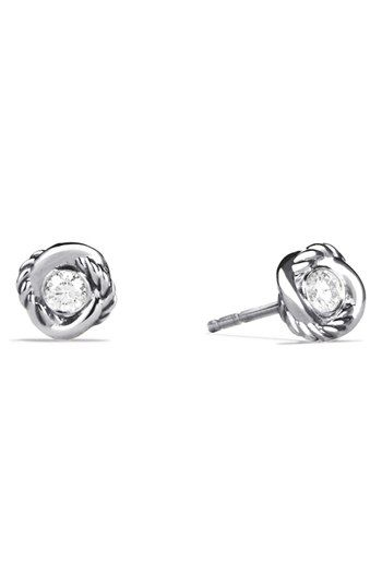 David Yurman 'Infinity' Earrings with Diamonds