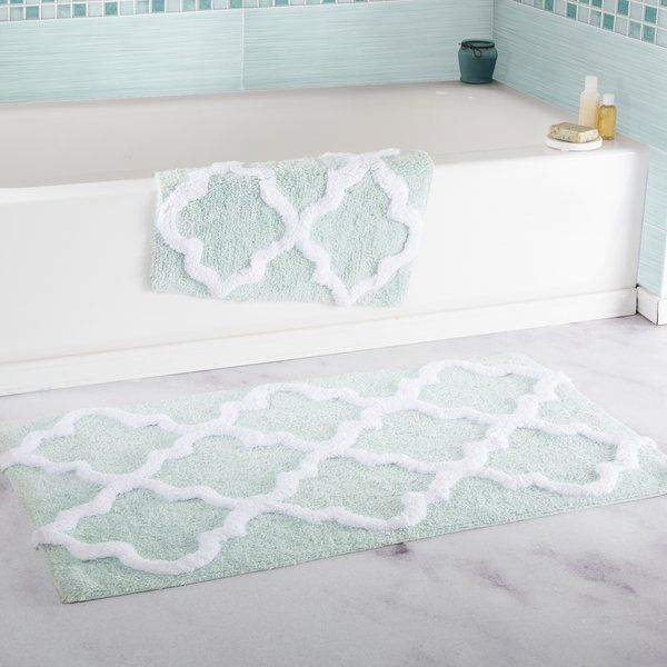 Garan 2 Piece Trellis Cotton Bath Mat