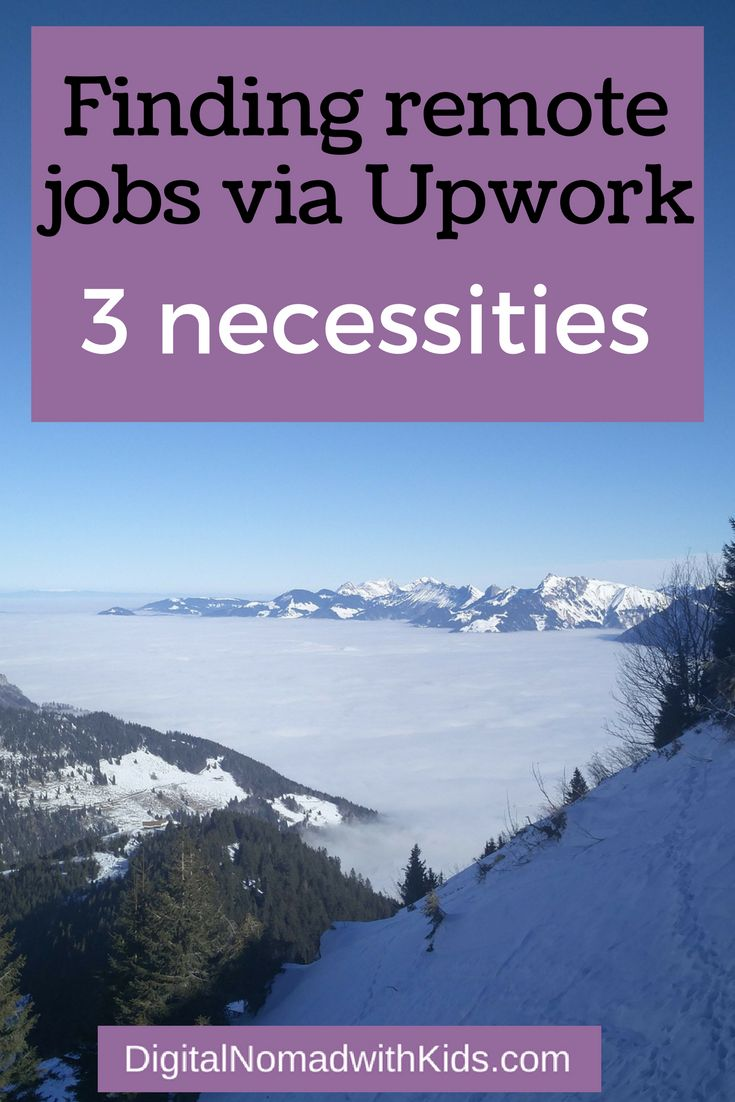 Looking for remote jobs and want to give Upwork a try? Read about the three things you need to make it a success!