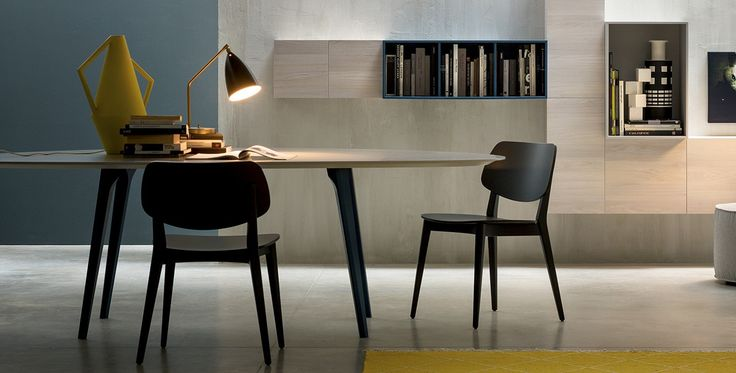 Doll, Tables and chairs, Products | A curved wood chair, Doll is the perfect union between form, function and design. Design by #Novamobili. #home #decor #italian #style #design #chair #interiors #architettura #interni #arredo #furniture
