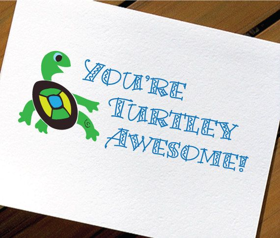 Cute Toddler Valentines Day Quotes: Cute Turtle Funny Valentine Card