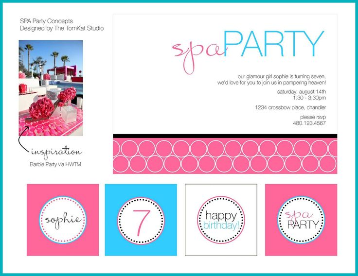 Spa Party a collection of ideas to try about Holidays and events – Kids Spa Party Invitations